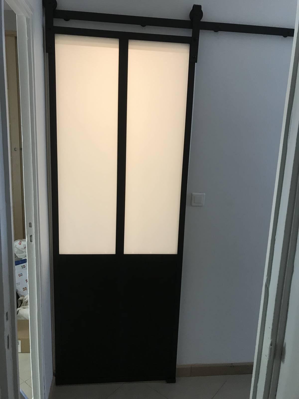 Fabrication Et Pose Du0027une Porte Coulissante Style Industriel Sur Cassis
